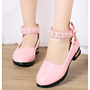 cheap Party Headpieces-Girls' Shoes PU Spring / Fall Flower Girl Shoes / Tiny Heels for Teens Heels for White / Black / Pink