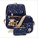 baratos Conjunto de Bolsas-Mulheres Bolsas Terylene Conjuntos de saco 3 Pcs Purse Set Urso Vermelho / Azul Escuro / Roxo