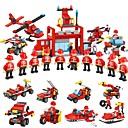 זול Building Blocks-אבני בניין 845 pcs רכבים לוחם תואם Legoing פשוט אינטראקציה בין הורים לילד רכב מכבי אש משאית ממטרה יוניסקס צעצועים מתנות