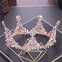tanie Imprezowe nakrycia głowy-Stop Tiary z Kryształ górski / Kryształki / Sztuczna perła 1 szt. Ślub / Urodziny Winieta