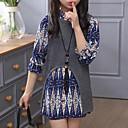 זול חולצות לבנות-סט של בגדים חוטי זהורית פוליאסטר אביב סתיו שרוול ארוך בנות סגנון רחוב תלתן אפור