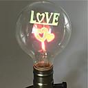 hesapli LED Ampuller-1pc 2W E26/E27 G80 Sıcak Beyaz 2200-2800k K Retro Dekorotif Incandescent Vintage Edison Ampul 220V-240V
