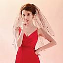 cheap Historical & Vintage Costumes-Two-tier Colorful Veil Wedding Veil Fingertip Veils 53 Trim Tulle