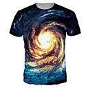 billige Anime-hættetrøjer og -sweatshirts-Rund hals Herre - Farveblok Trykt mønster Aktiv / Basale Plusstørrelser T-shirt / Kortærmet