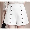 preiswerte Modische Armbänder-Damen Grundlegend Übergrössen Kurze Hosen Hose - Solide Druck Weiß
