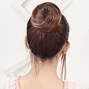 preiswerte Haarteil-Medium Auburn / Dunkeles Rotbraun / Blonde Blumen Haarknoten Sexy Lady Kordelzug Synthetische Haare Haarstück Haar-Verlängerung Blumen