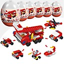 cheap Magnet Toys-Building Blocks Military Blocks 216 pcs Military Soldier Stress and Anxiety Relief Parent-Child Interaction Fire Engine Vehicle Boys' Girls' Toy Gift