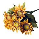 tanie Sztuczny kwiat-Sztuczne Kwiaty 1 Gałąź Styl pasterski Słoneczniki Bukiety na stół