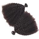 olcso Zuhany csaptelepek-Mongol haj Göndör Szűz haj Egy Pack Solution / Emberi haj tincsek Természetes Emberi haj sző Hot eladó / 100% Szűz Human Hair Extensions Női