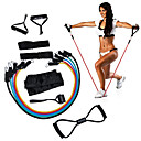 cheap Fitness Gear & Accessories-KYLINSPORT Resistance Band Set With Carrying Case / Ankle Strap / Door Anchor 12 pcs Rubber Strength Training, Physical Therapy For Yoga / Pilates / Exercise & Fitness Unisex Home / Office