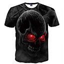 cheap Cell Phone Cases & Screen Protectors-Men's Club Basic T-shirt - Skull Print Round Neck / Short Sleeve