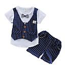 ieftine Hanorace Băieți & Tricouri-Copil Băieți Șic Stradă Dungi Manșon scurt Set Îmbrăcăminte