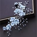 tanie Imprezowe nakrycia głowy-Stop Stroik z Kryształ górski / Satynowy kwiatek 1 szt. Ślub / Impreza / bal Winieta