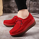 cheap Women's Sneakers-Women's Shoes PU(Polyurethane) Spring / Fall Comfort Sneakers Flat Heel Gray / Red / Blue
