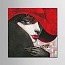 tanie Pejzaże-Hang-Malowane obraz olejny Ręcznie malowane - Ludzie Nowoczesny Zwinięte płótna / Zwijane płótno