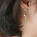 tanie Modne kolczyki-Kolczyki drop - Srebro standardowe Gwiazda Prosty, Koreański, Słodkie Srebrny Na Prezent Codzienny