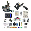 cheap Temporary Tattoos-BaseKey Tattoo Machine Starter Kit - 1 pcs Tattoo Machines with 7 x 15 ml tattoo inks, Professional Level, Professional Alloy LCD power supply Case Not Included 20 W 1 rotary machine liner & shader