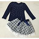 tanie Zestawy ubrań dla dziewczynek-Brzdąc Dla dziewczynek Aktywny Jendolity kolor Długi rękaw Komplet odzieży / Urocza