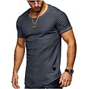 cheap Men's Slip-ons & Loafers-Men's Sports Street chic Plus Size Cotton Slim T-shirt - Solid Colored Round Neck / Short Sleeve