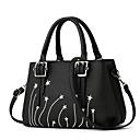 cheap Shoulder Bags-Women's Bags PU Shoulder Bag Bow(s) / Buttons Black / Red / Dark Blue