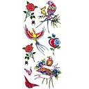 tanie Tatuaże tymczasowe-1 pcs Naklejki z tatuażem Tatuaże tymczasowe Seria zwierzęca / Seria kwiatowa Wodoodporny Sztuka na ciele Korpus / Ramię