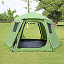cheap Tents, Canopies & Shelters-Shamocamel® 8 person  Outdoor Screen House Beach Tent Family Tent Retractable Automatic Dome Double Layered 1500-2000 mm Camping Tent  for Picnic Terylene Mesh Polyster 368*368*190 cm