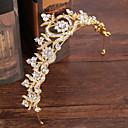 tanie Imprezowe nakrycia głowy-Srebro i złoto Nakrycie głowy z Brokat 1 szt. Ślub / Urodziny Winieta