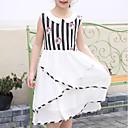 זול שמלות לבנות-שמלה פוליאסטר קיץ ללא שרוולים יומי חגים פסים גיאומטרי אנימה הילדה של חמוד סרט מצוייר נסיכות לבן