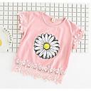 preiswerte Kigurumi Pyjamas-Baby Mädchen Grundlegend Geometrisch Druck Kurzarm T-Shirt