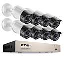 billige NVR-sett-zosi® 8ch e-postvarsling overvåkningssett 1080p hd-tvi dvr 8pcs 2.0mp ir nattesyn sikkerhet kamera video cctv system