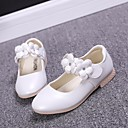 cheap Earrings-Girls' Shoes PU Spring / Fall Comfort / Flower Girl Shoes Flats for Gold / White / Pink