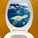 tanie Naklejki ścienne-Naklejki toaleta - Naklejki ścienne lotnicze / Naklejki naścienne ze zwierzętami Zwierzęta / 3D Salon / Sypialnia / Łazienka