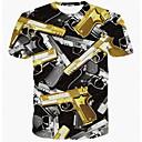 ieftine Maieu & Tricouri Bărbați-Bărbați Tricou Militar - Geometric / Manșon scurt