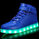 זול נעלי ילדים-בנים נעליים דמוי עור סתיו / סתיו חורף נוחות / נעליים זוהרות נעלי ספורט שרוכים / וו ולולאה / LED ל ילדים אדום / כחול / ורוד