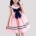 זול שמלות לבנות-שמלה כותנה קיץ ללא שרוולים פסים הילדה של פסים פפיון לבן ורוד מסמיק כחול בהיר