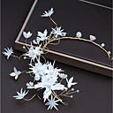 tanie Imprezowe nakrycia głowy-Stop Stroik z Kryształki / Satynowy kwiatek 1 szt. Ślub / Impreza / bal Winieta