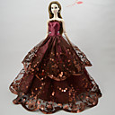 cheap Dolls Accessories-Dresses Dress For Barbie Doll Chocolate Poly / Cotton Dress For Girl's Doll Toy