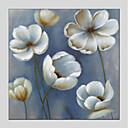 tanie Obrazy: motyw roślinny/botaniczny-Hang-Malowane obraz olejny Ręcznie malowane - Kwiatowy/Roślinny Nowoczesny