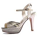 ieftine Sandale de Damă-Pentru femei Pantofi Piele Originală Vară / Toamnă Gladiator / Balerini Basic Sandale Toc Stilat Auriu / Negru / Party & Seară