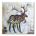 billige Sykkeljerseys-styledecor® moderne håndmalt abstrakt hjortoljemaleri på lerretskunst på innpakket lerret