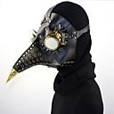 billige Lolitaparykker-Plague Doctor / Steampunk Masquerade Mask Behave Mask / Punk Rave Svart PU Leather Cosplay-tilbehør Halloween kostymer