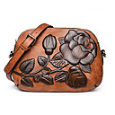 cheap Shoulder Bags-Women's Bags PU Leather Shoulder Bag Embossed Floral Print Green / Red / Brown