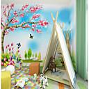 abordables Murales-Mural Lona Revestimiento de pared - adhesiva requerida Árboles y Hojas Art Decó 3D