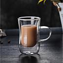 お買い得  カップ、マグカップ-カップ、グラス 高ホウ素ガラス グラス 携帯用 ガールフレンドのギフト ボーイフレンドのギフト 断熱 キュート 1pcs