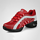 cheap Dance Sneakers-Women's Dance Sneakers Leatherette Sneaker Flat Heel Customizable Dance Shoes Red / Navy / Black / Red