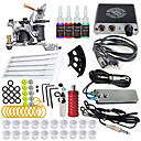 cheap Starter Tattoo Kits-ITATOO Tattoo Machine Starter Kit - 1 pcs Tattoo Machines with 4 x 5 ml tattoo inks, Professional Mini power supply Case Not Included 1 cast iron machine liner & shader