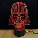 billige 3D-puslespill-3D nattlys Endring Usb Stress og angst relief / Fargeskiftende / Kreativ 5 V