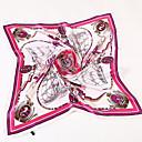 billige Halskjeder-Dame Vintage Firkantet - Netting, Trykt mønster Silke