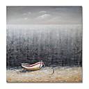 tanie Obrazy olejne-Hang-Malowane obraz olejny Ręcznie malowane - Abstrakcja / Krajobraz Nowoczesne / Nowoczesny Płótno / Rozciągnięte płótno