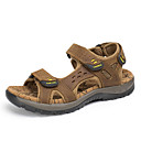 cheap Wall Stickers-Men's Nappa Leather Summer Comfort Sandals Green / Light Brown / Dark Brown